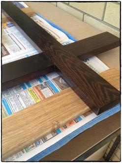 Wenge Wood being Varnished