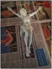Plaster Corpus Painted
