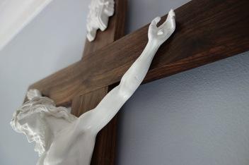 American Walnut Crucifix - Detail