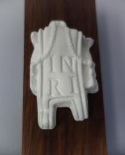 American Walnut Crucifix - INRI