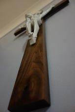 American Walnut Crucifix - Wood Detail