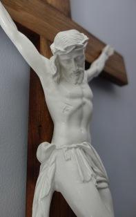 Light American Walnut Crucifix - Corpus