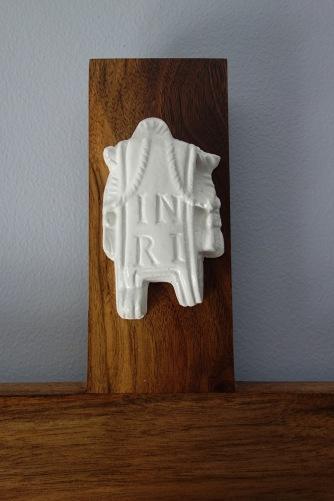 Light American Walnut Crucifix - INRI